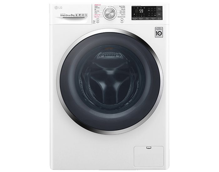 LG WTW1409VCW 9KG Front Load Washing Machine Front