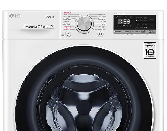 LG WV51275W 7.5kg Front Load Washing Machine with Steam Controls