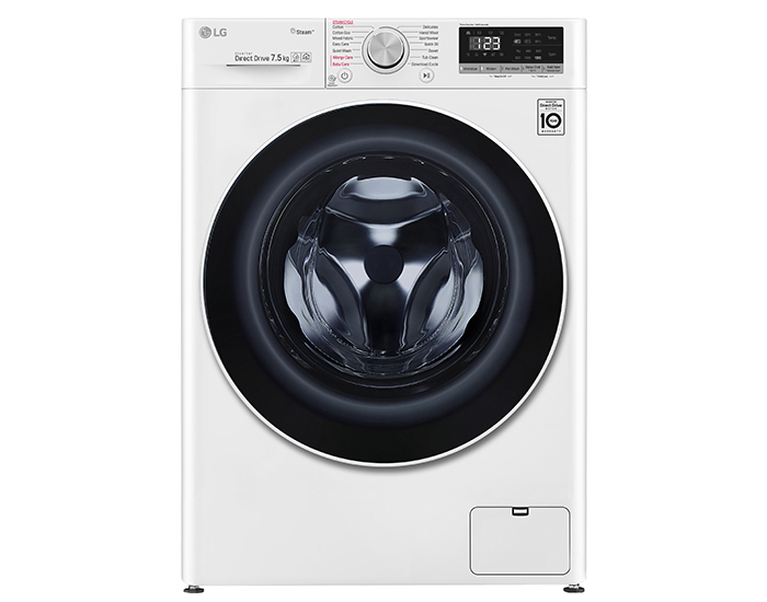 LG WV51275W 7.5kg Front Load Washing Machine with Steam