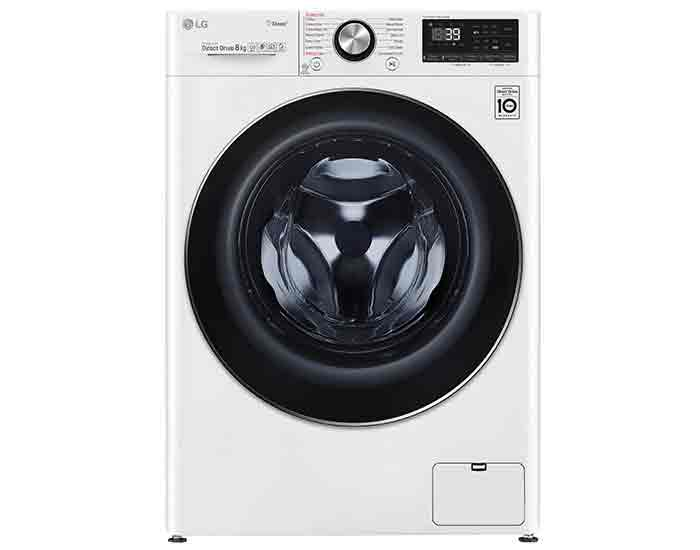 LG WV91408W 8kg Front Load Washing Machine with Steam+ Main
