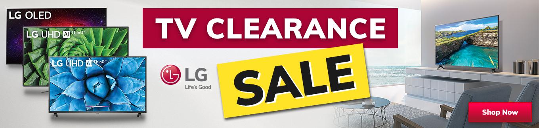 2021 LG TV Clearance Sale Desktop