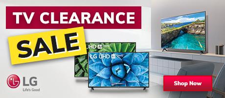 2021 LG TV Clearance Sale Slider