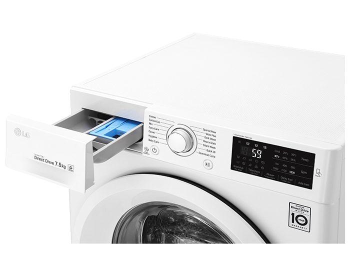 Lg WD1275TC5W 7.5KG Front Load Washer Dispenser
