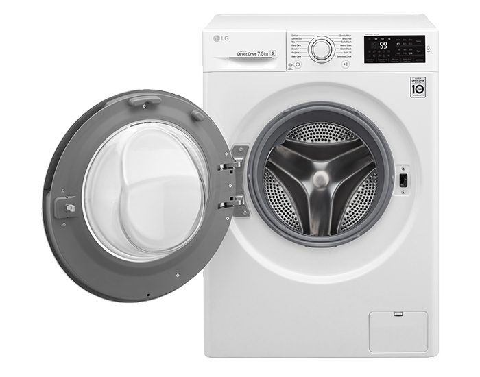 Lg WD1275TC5W 7.5KG Front Load Washer Door Open