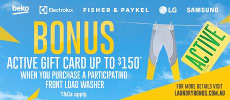 2021 Front Load Washing Machine Laundry Gift Card