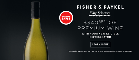 2021 Fisher and Paykel Wine Offer Slider