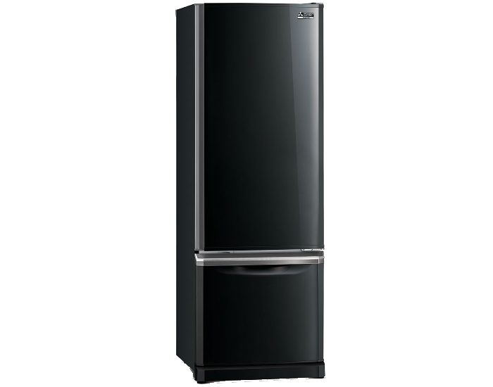 Mitsubishi Electric MRBF390EKOBA 390Lt Onyx Black Bottom Mount Fridge Main