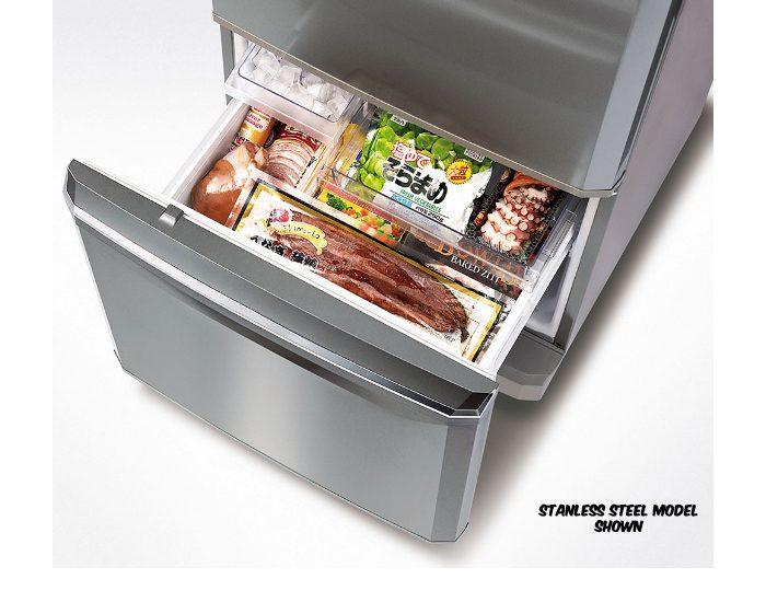 Mitsubishi Electric MRBF390EKWA 390Lt White Bottom Mount Fridge Freezer Draw