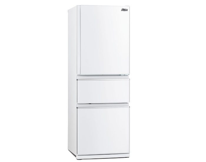 Mitsubishi Electric MRCX370EJWA1 White 370Lt 3 Door Bottom Mount Fridge Main