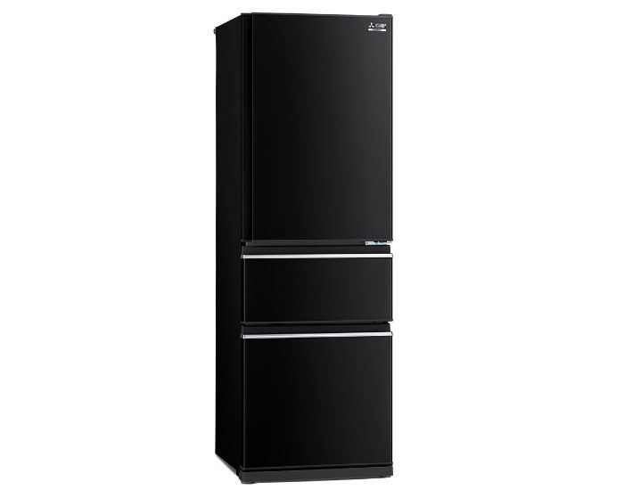 Mitsubishi Electric MRCX402EJOBA1 Onyx Black 402Lt 3 Door Bottom Mount Fridge Main