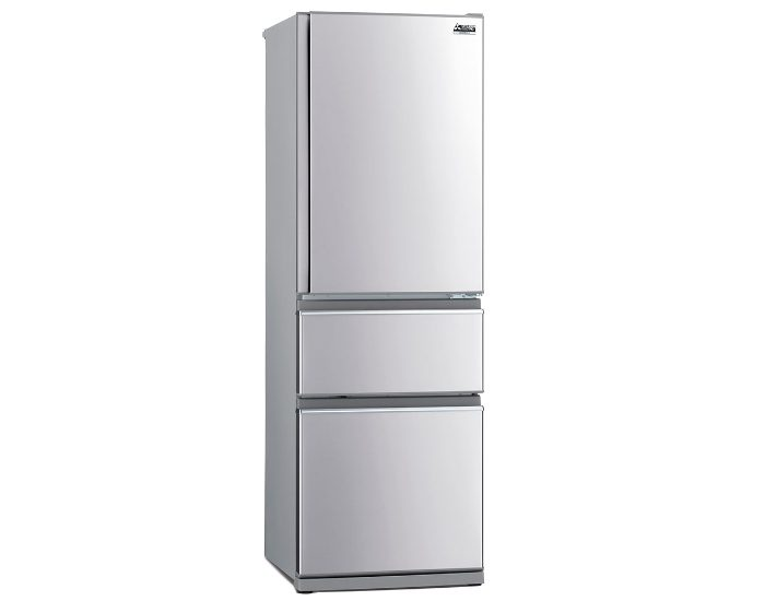 Mitsubishi Electric MRCX402EJSTA1 Stainless Steel 402Lt 3 Door Bottom Mount Fridge Main