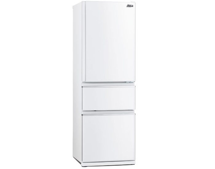 Mitsubishi Electric MRCX402EJWA1 White 402Lt 3 Door Bottom Mount Fridge Main