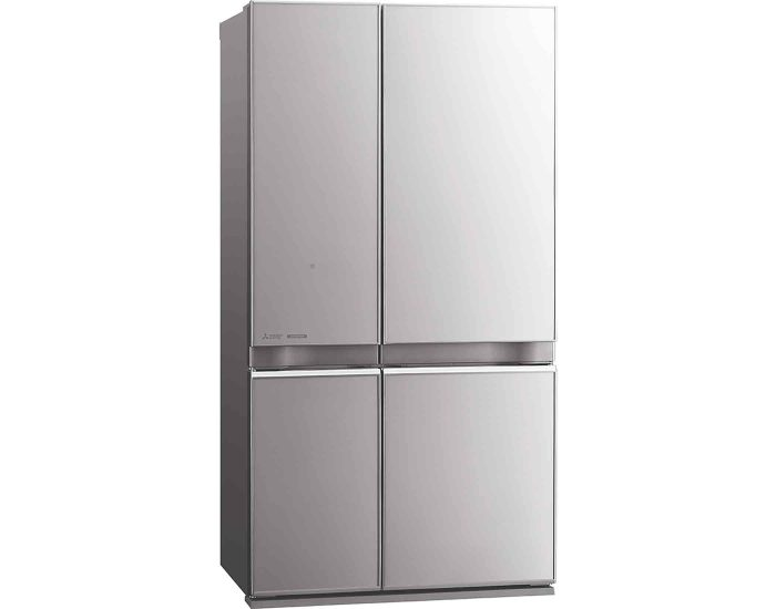Mitsubishi MRL710ENGSLA2 710L French Door Refrigerator in Silver Angle