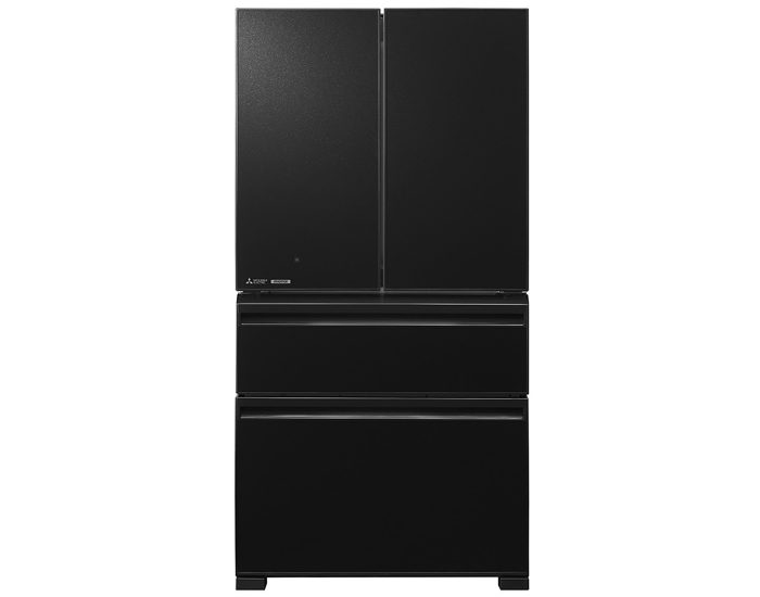 Mitsubishi MRLX630EMGBKA2 630L Brilliant Black French Door refrigerator Main