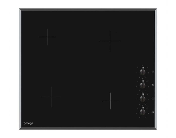 Omega 60cm Ceramic Cooktop with Knobs OC64KB Main
