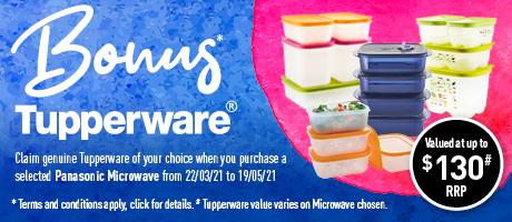 2021 Panasonic Microwave Tupperware Offer Slider