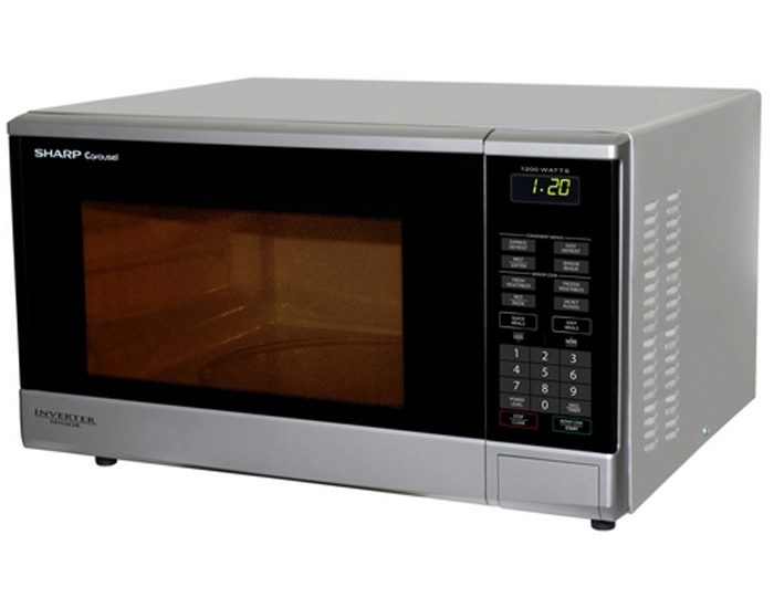 Sharp R350YS 1200W Silver Conventional Microwave Oven