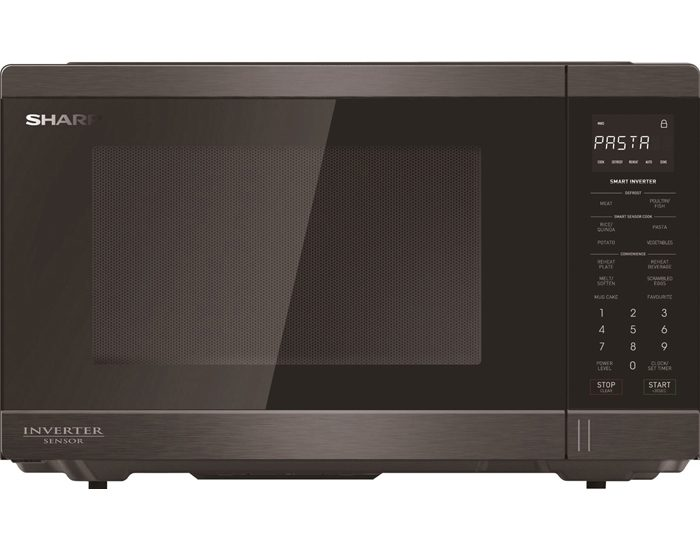 Sharp R395EBS 34L Black Stainless Microwave Oven