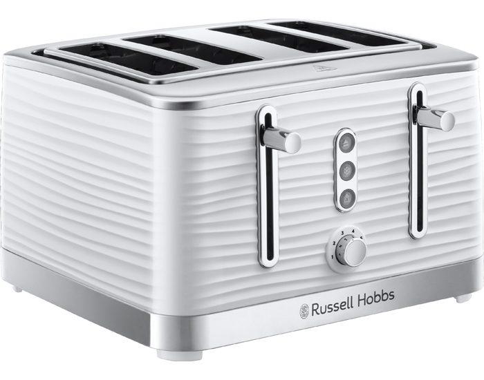 Russell Hobbs RHT114WHI Inspire 4 Slice Toaster - White
