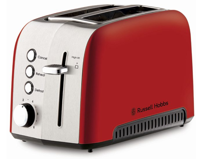 Russell Hobbs RHT52RED Heritage Vogue 2 Slice Toaster - Red
