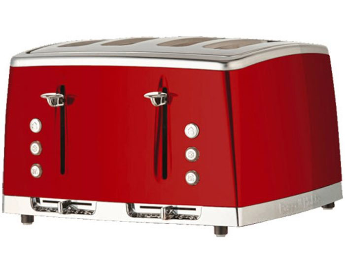 Russell Hobbs RHT64RBY Lunar 4 Slice Toaster - Ruby