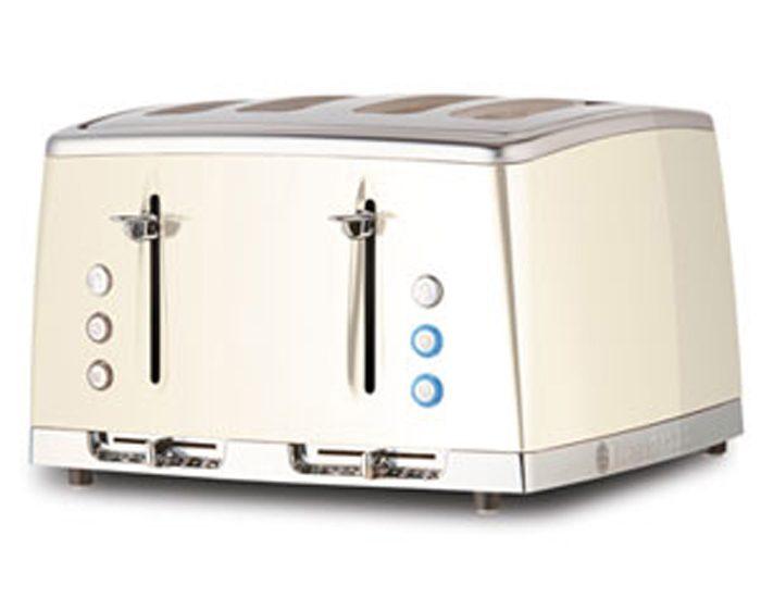 Russell Hobbs RHT64WHI Lunar 4 Slice Toaster - White