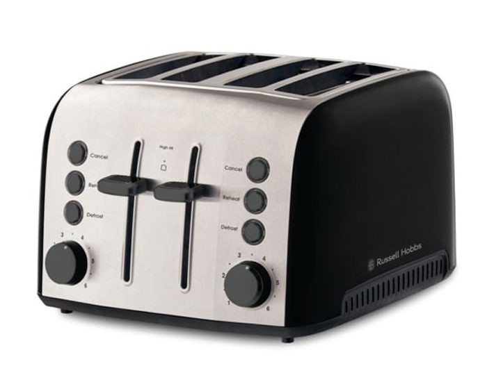 Russell Hobbs RHT94BLK Brooklyn 4 Slice Toaster - Black