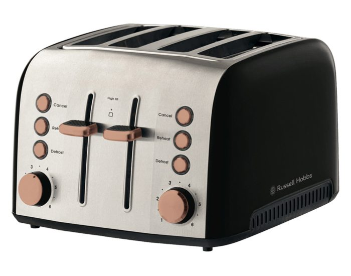 Russell Hobbs RHT94COP Brooklyn 4 Slice Toaster - Copper