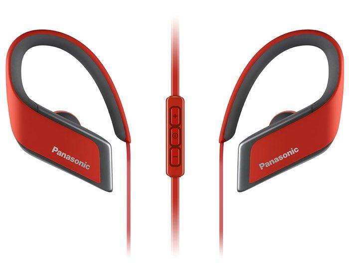 Panasonic RPBTS30ER Sports Bluetooth Earphones - Red