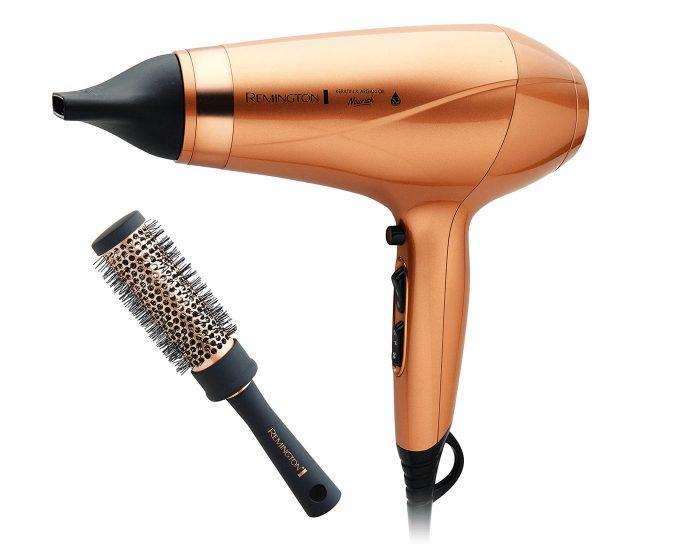 Remington Hair Dryer and Straightening Brush Bundle Dryer