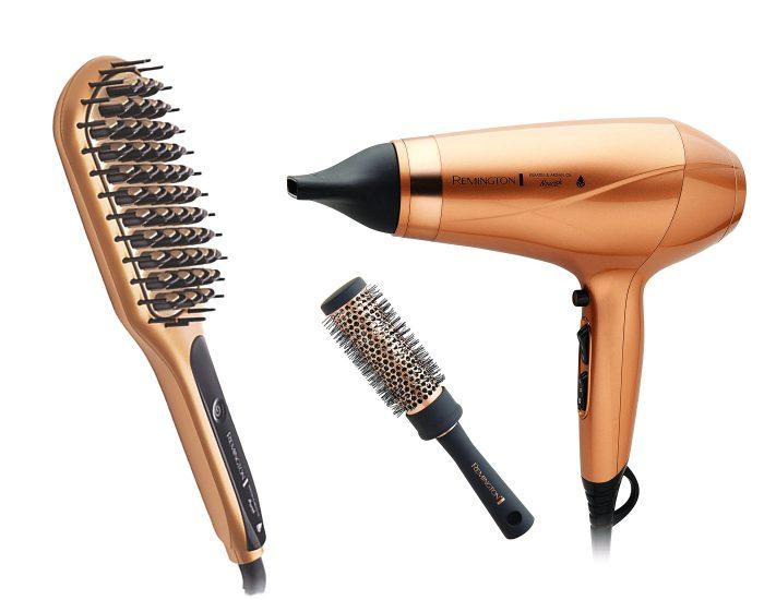 Remington Hair Dryer and Straightening Brush Bundle Main