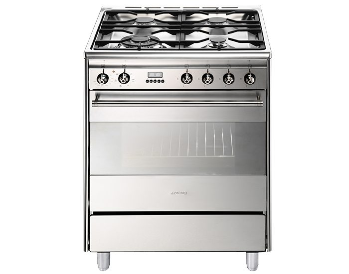 SMEG FS61XNG8 60cm Dual Fuel Upright Cooker