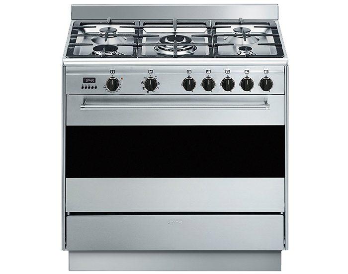 SMEG FS9606XSN 90cm Freestanding Dual Fuel Cooker