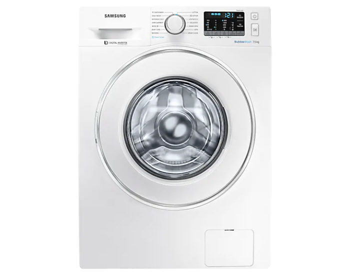 Samsung 7.5kg WW75J54E0IW BubbleWash™ Steam Front Load Washer Main