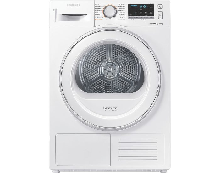 Samsung DV80M5010IW 8kg Heat Pump Dryer Main