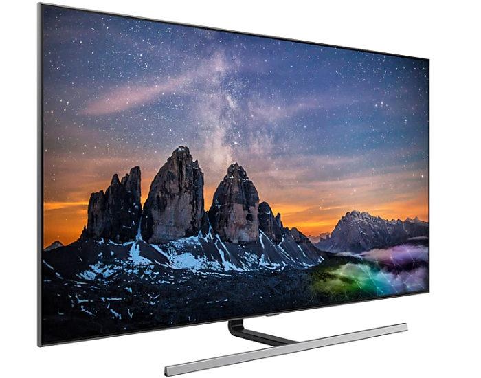Samsung QA75Q80RAWXXY 75 4K UHD QLED TV Angle 1