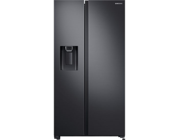 Samsung SRS673DMB 676L Side by Side Refrigerator in Matte Black Stainless Steel Main
