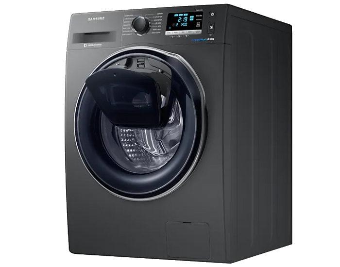 Samsung WW85K6410QX 8.5kg AddWash Front Load Washer Open Hatch Angle