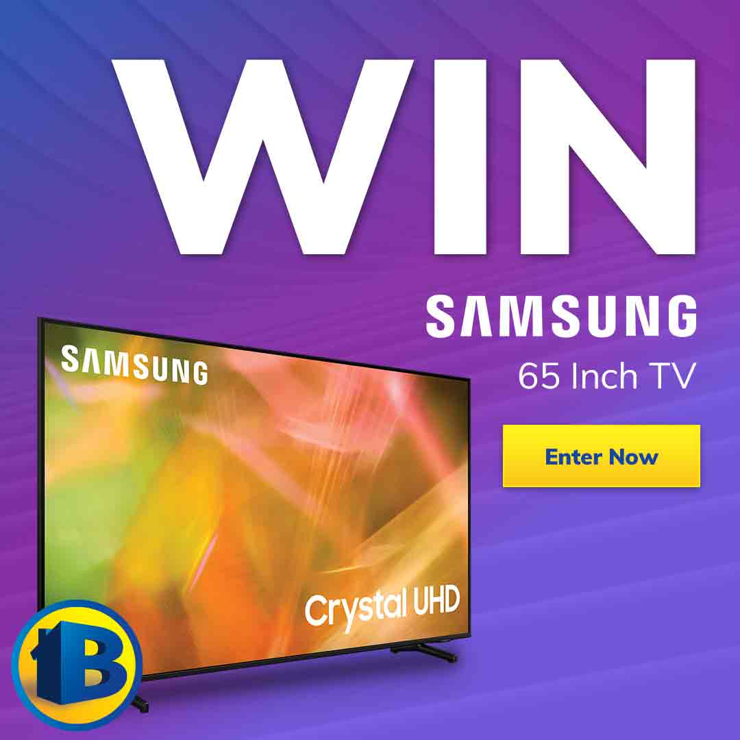 Giveaway Samsung 65 inch TV mobile