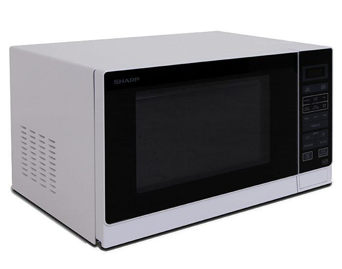 Sharp R30A0W 900W White Microwave Angle