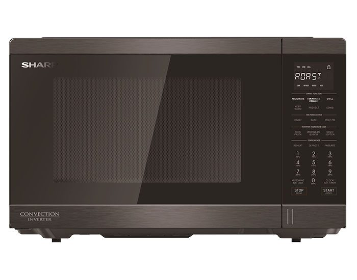 Sharp R890EBS 1100w Midsize Black Stainless Convection Microwave Oven Main