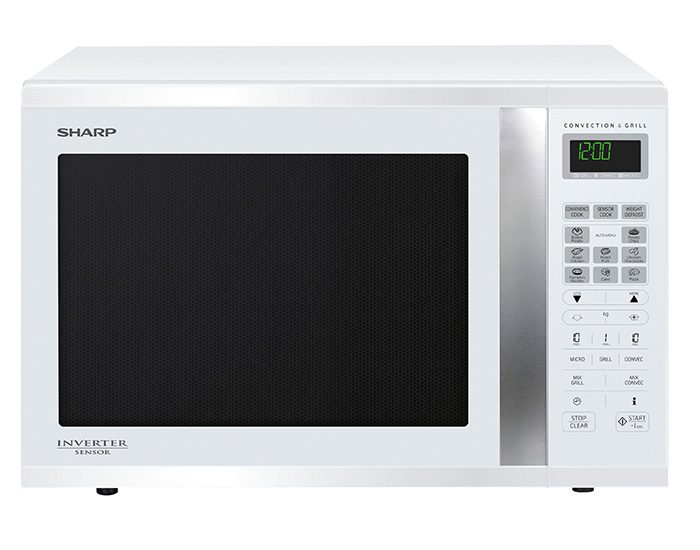 Sharp R995DW 1000W Large White Convection Microwave Oven Main