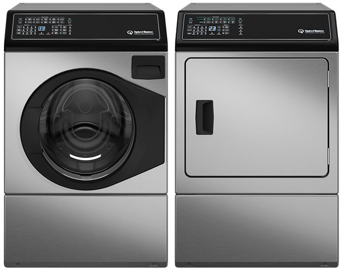 Speed Queen AFNE9BSSADEE9B Premium Series Matching Pair Front Load Washer And Electric Dryer