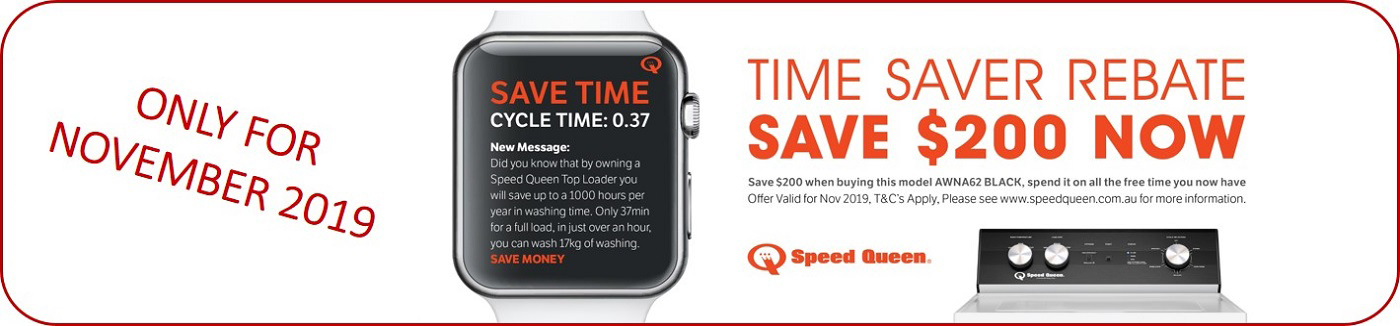 Speed Queen Time Saver Rebate