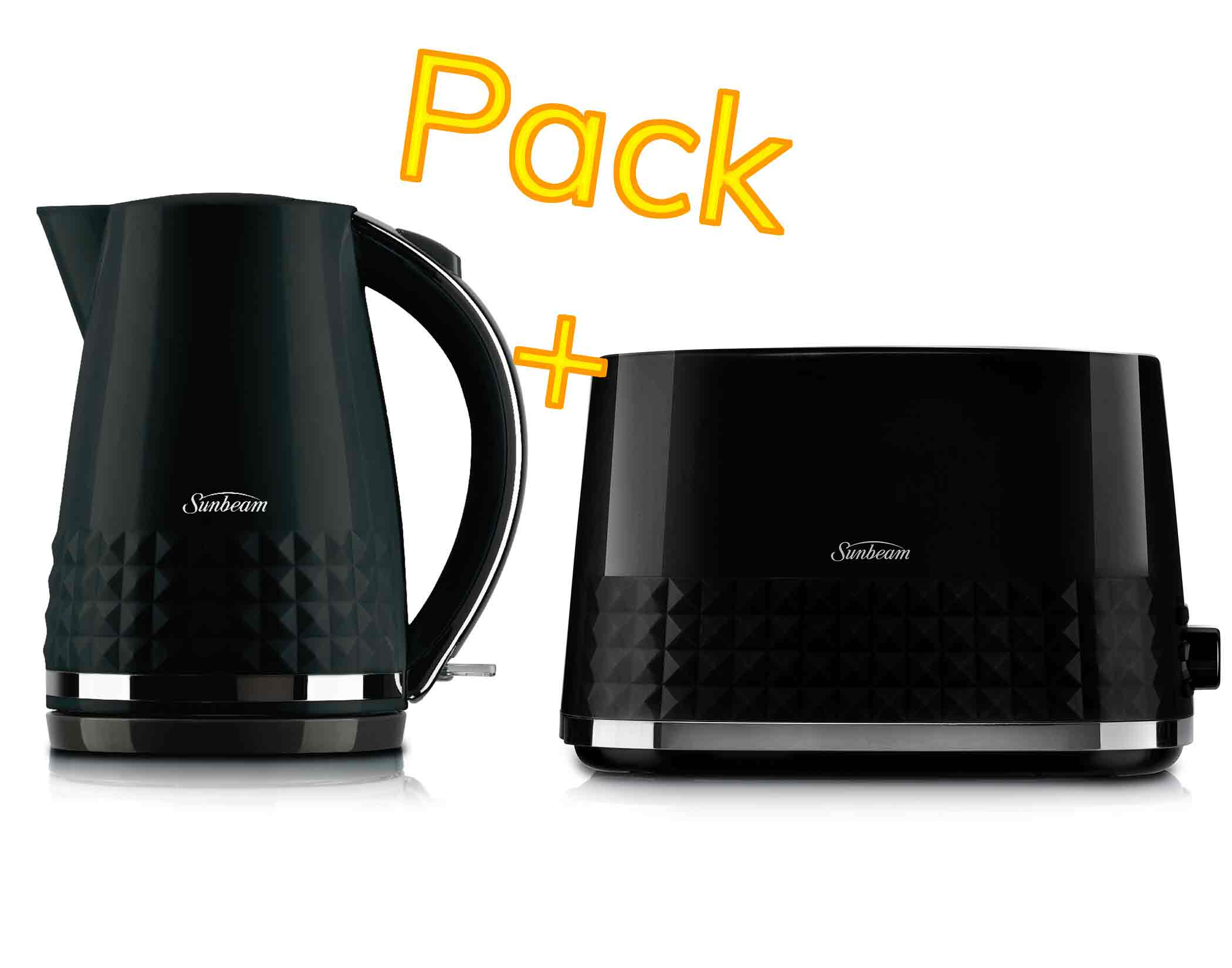 Sunbeam Diamond Collection Kettle And Toaster Pack Main
