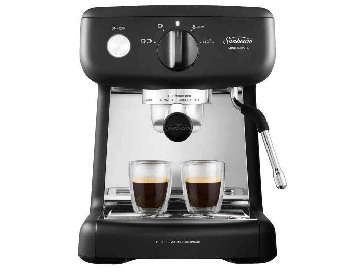 Sunbeam EM4300K Black Mini Barista Espresso Machine Front Espresso
