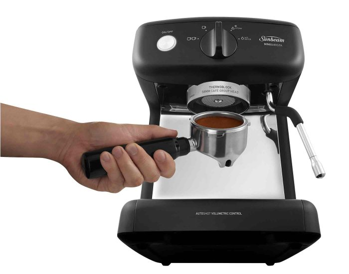 Sunbeam EM4300K Black Mini Barista Espresso Machine Grind