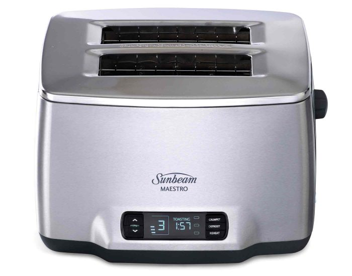 Sunbeam TA6240DS Maestro Dark 2 Slice Toaster Controls