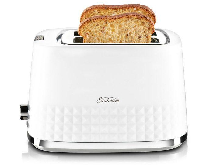 Sunbeam TA1900W Diamond Collection 2 Slice Toaster - White