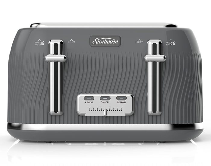 Sunbeam TA2540GO Coastal Collection 4 Slice Toaster - Grey Ocean